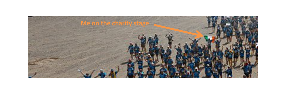me on the charity stage